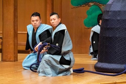 2015/03/29宝生別会能道成寺の鐘釣り